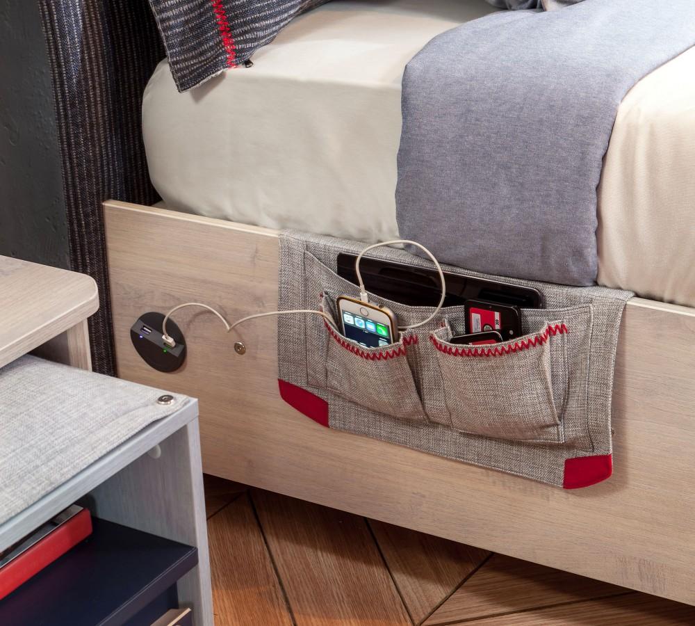 cilek trio 100x200 bett mit stauraum saloni home. Black Bedroom Furniture Sets. Home Design Ideas